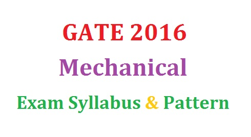 GATE 2016 ME Exam Syllabus
