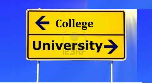 Difference Between A College And University
