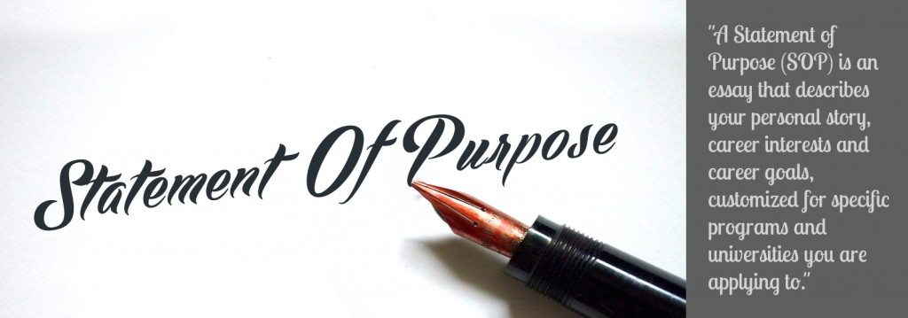 How to write a good Statement Of Purpose (SOP).