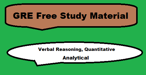 GRE Free Study Material