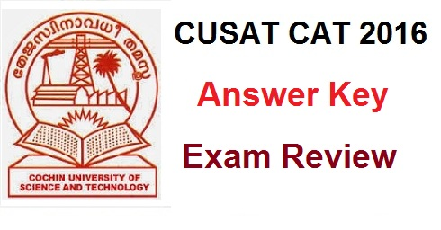 cusat cat 2016 answer key