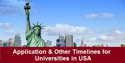 Application & Other Timelines for Universities in the USA