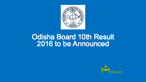 Odisha Board 10th Result 2016 to be Announced Soon