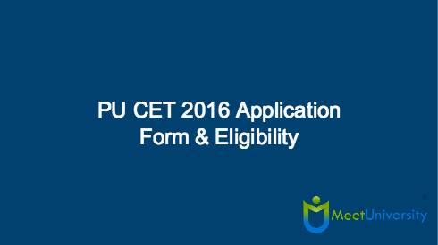 PU CET 2016 Application Form