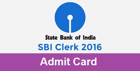SBI Clerk Admit Card 2016