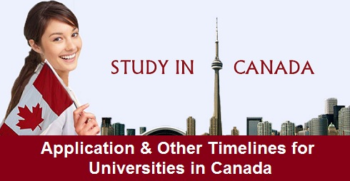 Application & Other Timelines for Universities in Canada