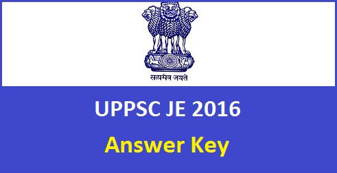 UPPSC JE Answer Key 2016