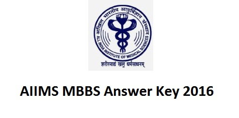 AIIMS MBBS Answer Key 2016