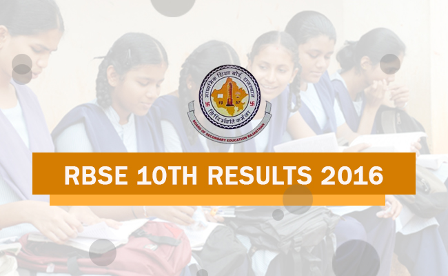 RBSE Rajasthan Board 10th Result 2016