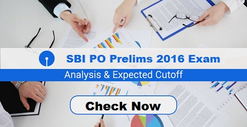 SBI PO Cut Off Marks 2016 for Prelims