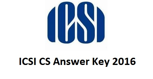 ICSI CS Answer Key 2016