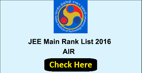 IIT JEE Main All India Rank List 2016