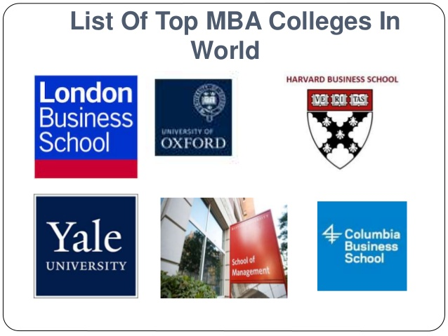 Top Best MBA Colleges in the World