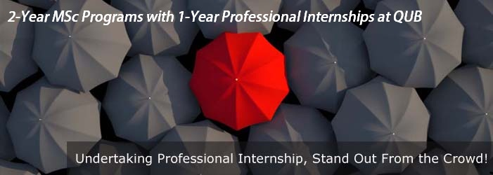 Masters with Paid Internship at QUB