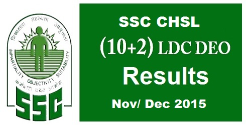 SSC CHSL Tier 2 Result 2015
