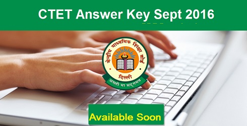 CTET Sept 2016 Answer Key