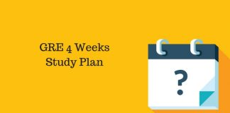 1 Month GRE Study Schedule