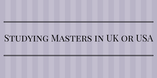 Studying Masters in UK vs USA