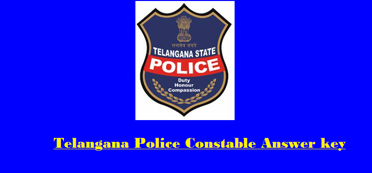 Telangana Police SI Mains Answer Key 2016