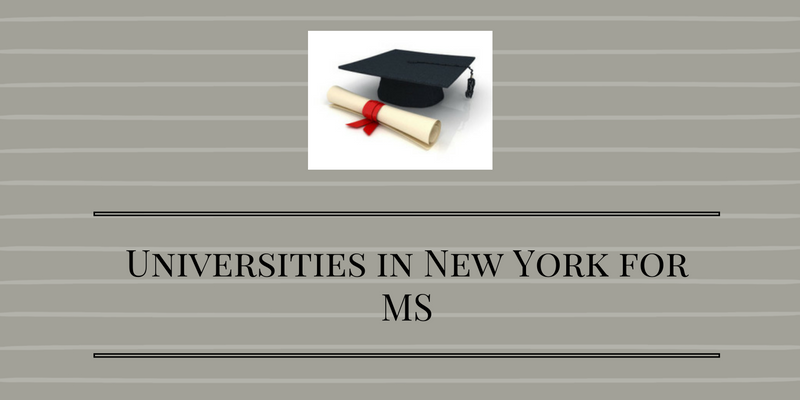 Universities in New York for MS