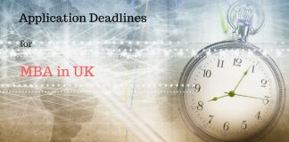 Fall 2018 Application Deadlines for MBA in UK
