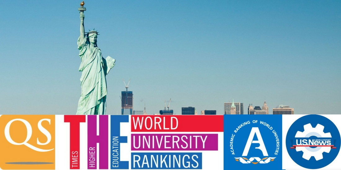 Rankings of US Universities 2017-2018