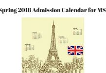Spring 2018 application Deadlines for MS in the UK