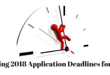 Spring 2018 Application Deadlines for MS in US