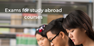 Exams for study abroad courses